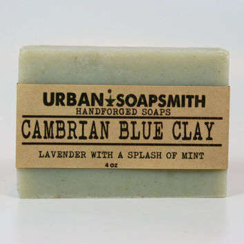 Cambrian Blue Clay Soap, Men's Soaps, Unisex Soaps, Handcrafted Soap,  Cold Process Soap,  Bar Soaps, Fathers Day