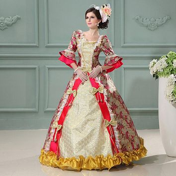 Customized Medieval European Court Rococo Baroque Princess Dress Cosplay