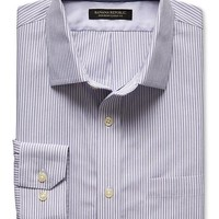 Banana Republic Mens Classic Fit Non Iron Multi Stripe Shirt