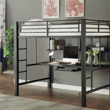 Coaster Fine Furniture Full Workstation Loft Bed Metal 460023