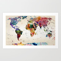 map Art Print by Mark Ashkenazi
