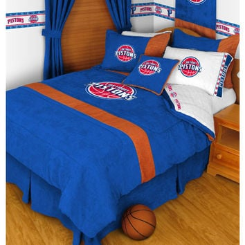NBA Detroit Pistons Bed Comforter Set: Twin