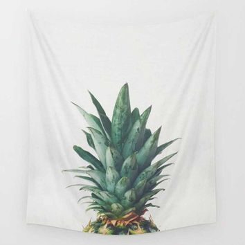 Pineapple Top Wall Art Tapestry