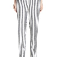 St. John Collection Stripe Twill Pants | Nordstrom
