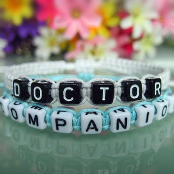 Doctor Who Inspired Bracelets, Time Lord Companion Bracelets, Doctor Companion, Couples Bracelets