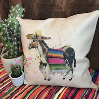 Serape Donkey Pillow Cover