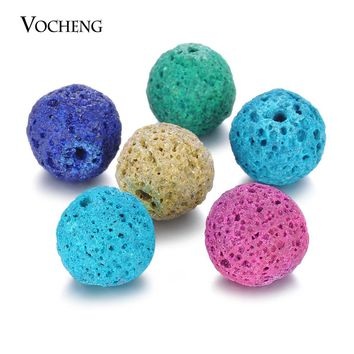 20pcs/lot Mix Colors Aromatherapy Ball 14mm Essential Oil Diffuser Perfume Balls Natural Stone for Angel Ball Necklace VA-373*20