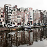 Travel photography, Amsterdam photography, cityscape art, bedroom wall decor, architecture art, dutch design, Europe photography 5x7 (13x18)