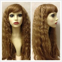 Lioness, Light Brown Crimped Long Lolita Cosplay Wig