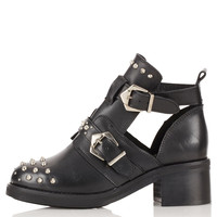 ARABEL Cut Out Studded Boots - Flat Boots - Boots - Shoes - Topshop