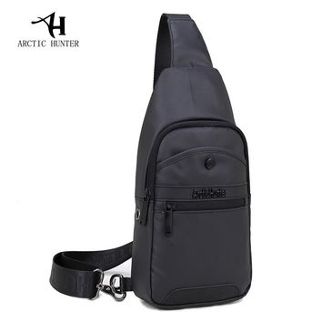 ARCTIC HUNTER Brand Casual Black Chest Bag Male Water Proof Messenger Bags Small Travel Backbag CrossBody Shoulder Bag for Man