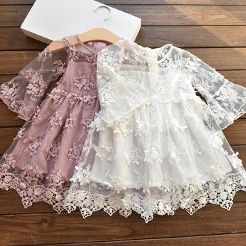 Girls Lolitas Lace Dress