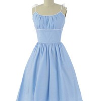 Powder Blue and White Polka Dot Monroe Dress
