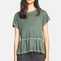Women's The Great 'The Ruffle' Cotton Tee,