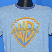 70s Warner Brothers Pictures Logo Ringer t-shirt Medium