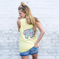 Perfect Fit Lemon Verbena Tropical Florals Tank