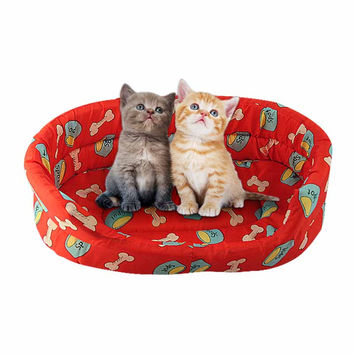 Warm Dog Bed Cozy Puppy Cat Kitten Pet Bed Pad Cushion Basket Sofa Couch Mat products for animals dog bed
