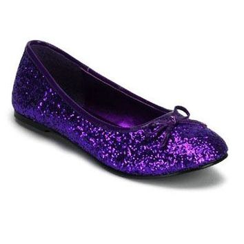 Pleaser Female Adult Ballet Glitter Flat With Bow Accent, Fantasy, Fairy STAR16G