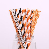 pcs  Paper  straw  Halloween  party  decoration