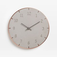 Umbra Piatto Wall Clock - Cement