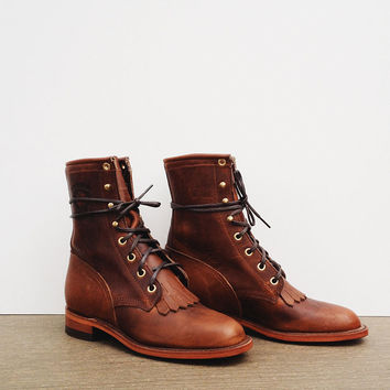 Chippewa Women's 8 Lacer - Tan Renegade [Chippewa Women's 8 Lacer] : ORN HANSEN, Vintage + American Made General Store
