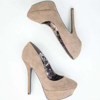 Optimal Suede Platforms in Beige