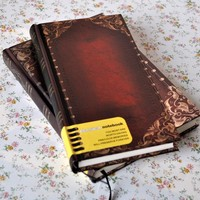 New Affordable Retro Vintage Personal Notebook Diary Journal Organiser Book School Office Use Dark brown