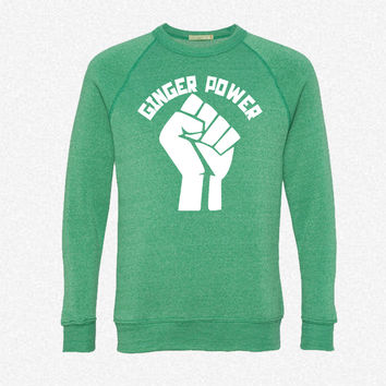 Ginger Power fleece crewneck sweatshirt