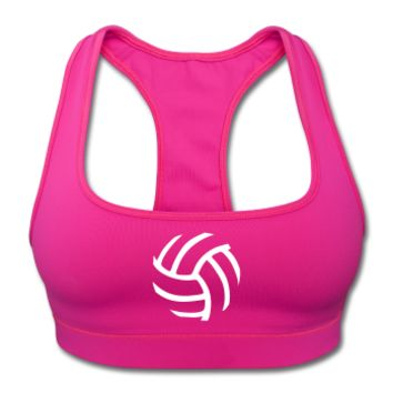 Volleyball Ball - Sports Bra by American Apparel