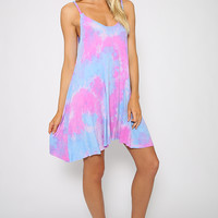 To Dye For Dress - Rainbow print tie dye dress