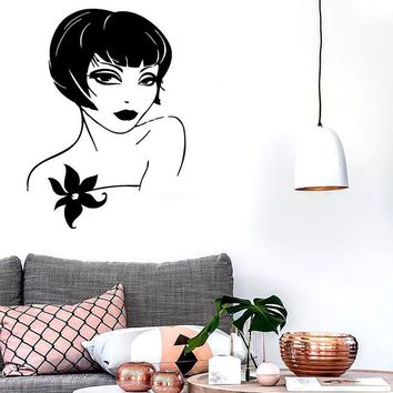 Wall Stickers Vinyl Decal Sexy Girl Short Hair Fashion Style Unique Gift (ig718)