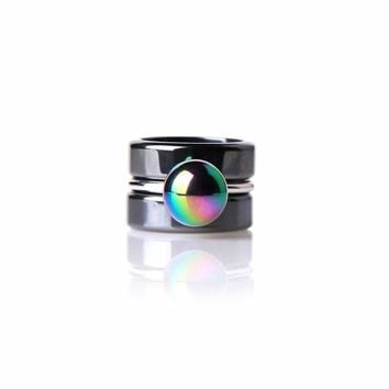 Hollie Rainbow Hematite Ring Set