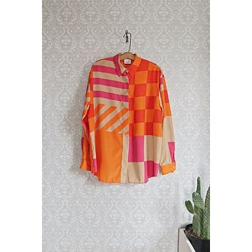 Vintage Bold Abstract Blouse