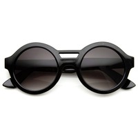 Bold Round Circle Retro Indie Sunglasses 8766