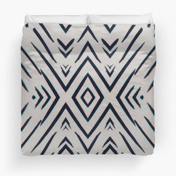 'Geometric Whatever' Duvet Cover by DuckyB