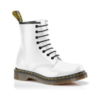 Womens Dr. Martens Patent 8-Eye Boot, White  Journeys Shoes
