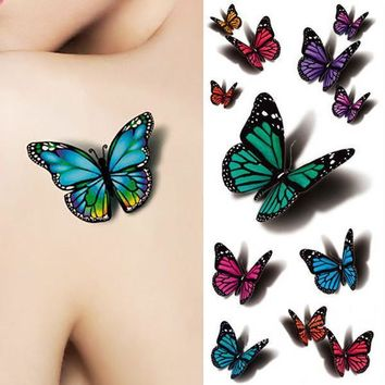 Tattoo Sticker 3D Butterfly Tattoo Decals Body Art Waterproof