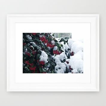 Winter and snow Framed Art Print by VanessaGF | Society6