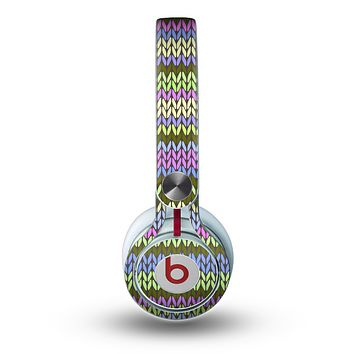 The Colorful Knit Pattern Skin for the Beats by Dre Mixr Headphones
