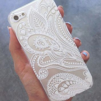Iphone Cellphone Flower Patter Case