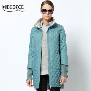 2018 Women's Fashion Parkas coat Female Spring Jacket With Scarf