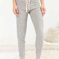 Out From Under Longest Yard Lace-Up Skinny Sweatpant - Urban Outfitters