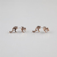 Full Tilt Tiger Front To Back Earrings Gold One Size For Women 23574762101