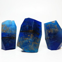 Lapis Lazuli Style Rock Shaped Soap in Sea Salt & Lotus