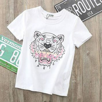 Kenzo Girls Boys Children Baby Toddler Kids Child Fashion Casual Shirt Top Tee