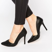 New Look Cut Out Heeled Court Shoes
