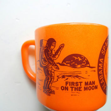 Vintage Fire King Space and Rocket Center Coffee Mug 1960s
