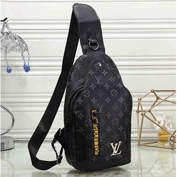 LV Fashion Leather Chest Bag Crossbody Shoulder Bag