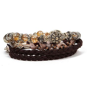 BKE Braided Wrap Bracelet