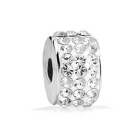 Christmas Gifts 925 Sterling Silver Crystal Stopper Clasp Bead Fits Pandora